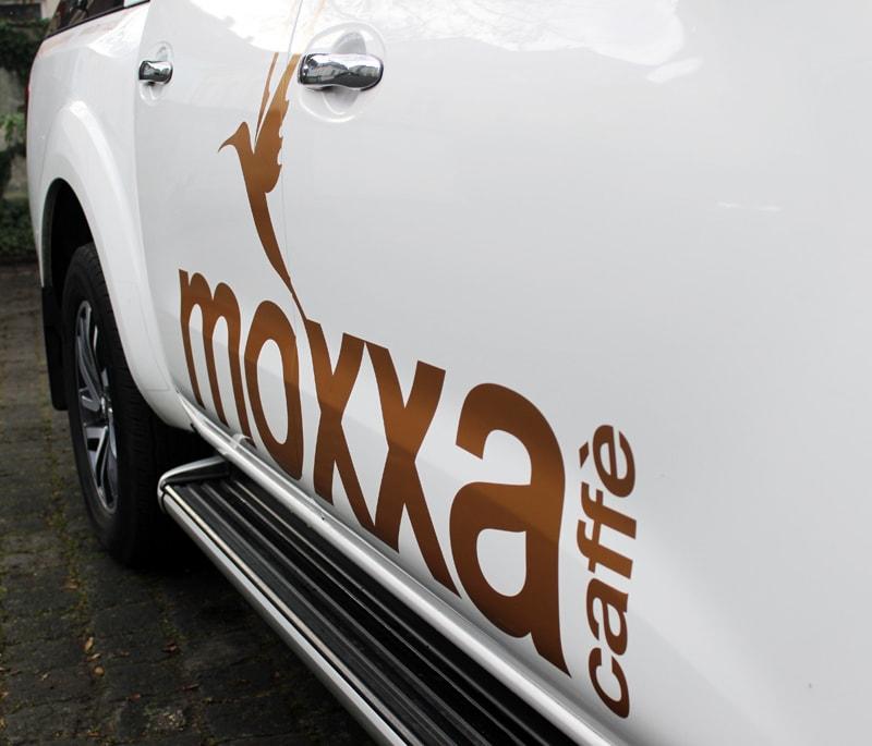 Fahrzeugbeschriftung für moxxa